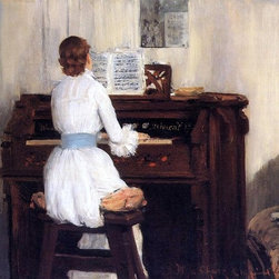 "William Merritt Chase Mrs. Meigs at the Piano Organ   Print - 16"" x 24"" William Merritt Chase Mrs. Meigs at the Piano Organ premium archival print reproduced to meet museum quality standards. Our museum quality archival prints are produced using high-precision print technology for a more accurate reproduction printed on high quality, heavyweight matte presentation paper with fade-resistant, archival inks. Our progressive business model allows us to offer works of art to you at the best wholesale pricing, significantly less than art gallery prices, affordable to all. This line of artwork is produced with extra white border space (if you choose to have it framed, for your framer to work with to frame properly or utilize a larger mat and/or frame).  We present a comprehensive collection of exceptional art reproductions byWilliam Merritt Chase."