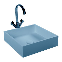 ADM - ADM Matte White Countertop Stone Resin Sink - This may be the sink that kick starts the idea for you that a sink can be something more than a place to wash your face. Perhaps even simple yet striking, no?