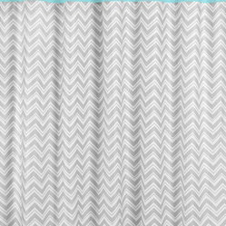 Zig Zag Turquoise and Gray Shower Curtain by Sweet Jojo Designs