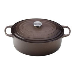 Le Creuset - Le Creuset Signature Enameled Cast Iron Oval French Oven - The perfect size and shape for roasting a ham or small turkey, the French oven is an ideal piece to have at holiday time. But its useful at any time of year for preparing classics like coq au vin or arroz con pollo.