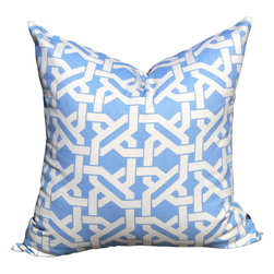 Pillow Fever - Geometric Pillow Cover in Wedgwood - Pillow insert is not included!