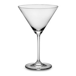 Marquis By Waterford - Marquis by Waterford Vintage 10-Ounce Martini Glasses (Set of 2) - With no cuts, shape takes on a whole new meaning. Characterized by modern design and full-bodied elegance, smooth curves create an enticing appearance for this crystalware. A contemporary interpretation of the tradition of Waterford fine crystal.