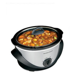 Hamilton Beach - Hamilton Beach 4-quart Oval Slow Cooker - Enjoy healthy home-cooked meals even with an oval-shaped slow cooker Kitchen appliance features a generous 4-quart capacity Crock pot works great for cooking up soups, casseroles, pot roasts, curries and more