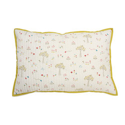 Little Auggie - Rabbit Patch Decorative Quilted Pillow Cover - Rabbit Patch Decorative Quilted Pillow