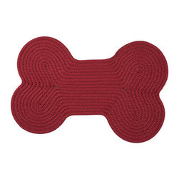 Colonial Mills - Dog Bone Solid Sangria 1 Ft. 8 In. x 2 Ft. 8 In. Bone Shaped Rug - - These bone shaped rugs add whimsy and function to your floors protecting them from the messiest of your 4-legged friends. Solid colors make a stylish statement in this highly durable stain-resistant mat offered in 3 sizes. Made in the USA  - Stain/Fade Resistant  - Reversible  - Finish/Color: Sangria  - Product Width: 22  - Product Depth: 34  - Product Height: 0.5  - Product Weight: 4  - Material: 100% Polypropylene  - Vacuum with hard surface attachment only. Spot clean with any common household cleaner Colonial Mills - H578A022X034D