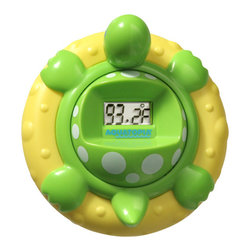 Aquatopia - Safety Bath Time Audible Thermometer & Alarm - Rubber Ducky may make bath time fun, but this Temperature Turtle keeps it safe! This innovative, playful floater takes the water temperature every two seconds, and sounds an alarm if the bath gets too hot or cold.