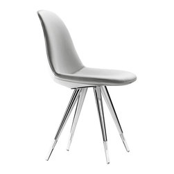 Kubikoff - Angel Pop Chair, White Leather - Angel Pop Chair