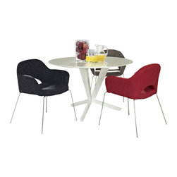 Modway Furniture - Modway Cordelia Dining Chairs Set of 3 in Multicolored - Dining Chairs Set of 3 in Multicolored belongs to Cordelia Collection by Modway Participate in renewed growth and actualization with the Cordelia Side Chair. Sit comfortably as an aspirational back and up-surging arms compliment a dual-tone tweed fabric cushion. Sleek chrome legs solidify the progress as unlocked potentials are established with ease. Set Includes: Three - Cordelia Armchairs Side Chair (3)