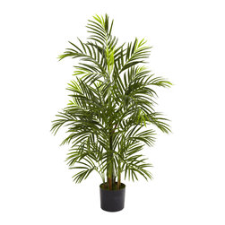 Nearly Natural - Nearly Natural 3.5' Areca Palm UV Resistant (Indoor/Outdoor) - At home in your living room as well as your patio, deck or garden, this wonderful Areca palm tree is an ideal piece of natural-looking decor. Standing three and a half feet in height, its multiple trunks and more than 500 leaves are fully UV resistant, making it incredibly versatile. Ideal for both home and office decorating, this eastern delight makes a fine gift as well.