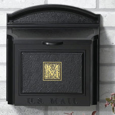 Traditional Mailboxes Whitehall Mailboxes: Monogramed Wall Mount Mailbox