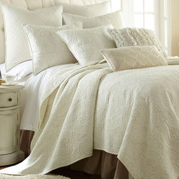 Levtex Home - Miramar Quilt Set - Instantly update bedroom d̩cor with the timeless embroidered detail of this set. It's constructed from ultrasoft 100 percent cotton that ensures a cozy night's sleep. �� Includes quilt and two shams (twin sizes includes one sham) 100% cotton Machine wash Imported
