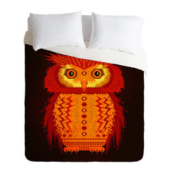 DENY Designs - DENY Designs Chobopop Geometric Owl Duvet Cover - Lightweight - Turn your basic, boring down comforter into the super stylish focal point of your bedroom. Our Lightweight Duvet is made from an ultra soft, lightweight woven polyester, ivory-colored top with a 100% polyester, ivory-colored bottom. They include a hidden zipper with interior corner ties to secure your comforter. It is comfy, fade-resistant, machine washable and custom printed for each and every customer. If you're looking for a heavier duvet option, be sure to check out our Luxe Duvets!