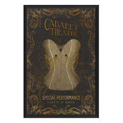 The Artwork Factory - 'Cabaret Theatre' Print - Add a playful vintage print to your home and you'll enjoy a daily nod to the entertainment industry's past. The corset print is made in the USA and arrives to your door framed and ready to hang. It's a creative gift that keeps on giving long after the curtains close.