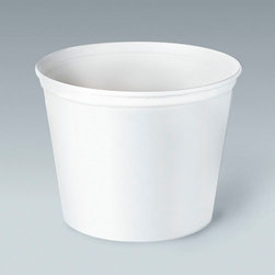 SOLO CUP - C-Unwaxed Double Wrapped Food Buckets 165 Oz White 100 - White, unwaxed. Use for foodservice or as ice buckets for lodging. 100 buckets per case. 165-oz. Container. 165-oz Double-Wrapped Paper Buckets.
