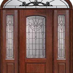 """Prehung Sidelites-Transom Door 80 Fiberglass Palacio Arch Lite Glass - SKU#MCR06195_DFAP1-2EUBrandGlassCraftDoor TypeExteriorManufacturer CollectionArch Lite Entry DoorsDoor ModelPalacioDoor MaterialFiberglassWoodgrainVeneerPrice5235Door Size Options32"""" + 2( 14"""")[5'-0""""]  $036"""" + 2( 14"""")[5'-4""""]  $036"""" + 2( 12"""")[5'-0""""]  $0Core TypeDoor StyleDoor Lite StyleArch LiteDoor Panel Style1 PanelHome Style MatchingDoor ConstructionPrehanging OptionsPrehungPrehung ConfigurationDoor with Two Sidelites and Elliptical TransomDoor Thickness (Inches)1.75Glass Thickness (Inches)Glass TypeDouble GlazedGlass CamingBlackGlass FeaturesTempered glassGlass StyleGlass TextureGlass ObscurityDoor FeaturesDoor ApprovalsEnergy Star , TCEQ , Wind-load Rated , AMD , NFRC-IG , IRC , NFRC-Safety GlassDoor FinishesDoor AccessoriesWeight (lbs)698Crating Size36"""" (w)x 108"""" (l)x 89"""" (h)Lead TimeSlab Doors: 7 Business DaysPrehung:14 Business DaysPrefinished, PreHung:21 Business DaysWarrantyFive (5) years limited warranty for the Fiberglass FinishThree (3) years limited warranty for MasterGrain Door Panel"""