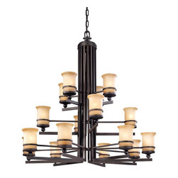 Troy Lighting - Transitional Sixteen Light 2 Tier ChandelierRanier Collection - Being a Leader in an Industry requires many attributes.