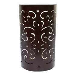 Badia Design Inc. - Moroccan Rustic Iron Wall Sconce for Indoor or Outdoor Use - Hand Carved from Wrought Iron for Indoor or Outdoor Use