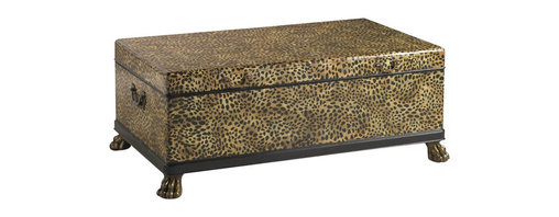 Henry Link - Henry Link Panthera Trunk Cocktail Table in Leopard and Leather - Henry Link - Coffee Tables - 014011608 - About This Product: