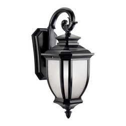 "Kichler - Kichler 9040BK Salisbury Collection 1 Light 19"" Outdoor Wall Light - Kichler 9040 Salisbury Outdoor Wall Light"