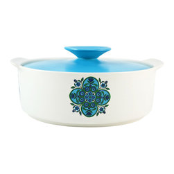 Lavish Shoestring - Consigned English Turquoise Porcelain Tureen or Serving Dish - This is a vintage one-of-a-kind item.