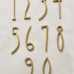 Hand-Welded House Number, Brass -
