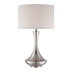 Lite Source Elisio Table Lamp - About Lite SourceLite Source is headquartered in California and manufactures a beautiful selection of high-quality accent lamps, ceiling lighting, wall lighting, exterior lighting, and home accessories. A purchase from Lite Source will be a long-lasting addition to any decor.Manufacturer's WarrantyThis item includes a 1-year limited manufacturer's warranty.