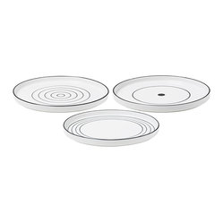 Design House Stockholm Bono Dessert Plates, Set of Three