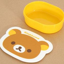 yellow Rilakkuma Bento Box Lunch Box brown bear - Cute Rilakkuma Bento Box