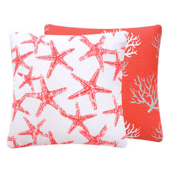 "Wonders of the Seas Salmon 18"" Throw Pillow - Chloe & Olive"
