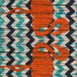 "Loloi Rugs - Loloi Rugs Aria Collection - Aqua / Orange, 2'-3"" x 3'-9"" - Expressive and relaxed, stylish and fun. The Aria Collection from India has it all. Pretty paisley patterns, flourishing flowers, dreamy damasks and magical medallion designs are printed onto 100% recycled cotton Chindi for scatter rugs that are flirty and fashionable. Dressed in a palette of bold, saturated colors that take you from cool blues and pinks to warm spice tones and modern tropical hues, too, Aria rugs come in select scatter sizes that will accent choice spaces with flair."