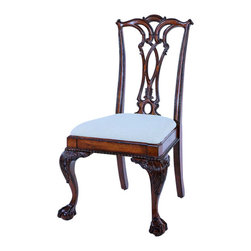 """Hooker Furniture - Ball and Claw Desk Chair - White glove, in-home delivery!  For this item, additional shipping fee will apply.  Majestic meets practical with this chair.  It is crafted using hardwood solids and cherry veneers.  Seat height: 20"""" h"""
