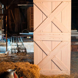 Sliding Barn Door Kit - Real Barn Door Kit for an interior sliding application. Easy to assembly onsite or can come preassembled. Check out our website for more information.
