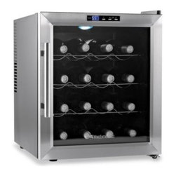 Wine Enthusiast - Wine Enthusiast Silent 16-Bottle Wine Refrigerator with Stainless Steel Trim Doo - Wine Enthusiast Wine Refrigerator offers classic, complementary styling for the home using a stainless steel-trim door. Protects the taste of reds and whites with updated, virtually silent cooling technology.