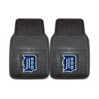 Fanmats - Fanmats Detroit Tigers 2-piece Vinyl Car Mats - A universal fit makes this two-piece mat set ideal for cars, trucks, SUVs and RVs. The officially licensed Detroit Tigers design in true team colors is permanently molded of vinyl for longevity.