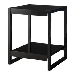 Calhoun Nighstand Black - This minimalist steel nightstand keeps a low profile and has terrific lines.