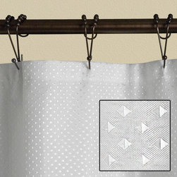 Diamond Jacquard Polyester Shower Curtain - White - The diamond jacquard pattern on this shower curtain makes it a standout piece in your bathroom.