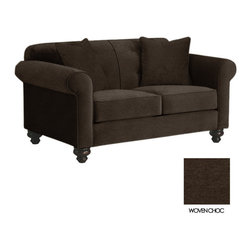 Apt2B - Pico Tufted Back Apt Size Sofa, Woven Chocolate - The Pico Collection has something that's hard to find: classic elegance that works perfectly in a modern setting. Between the unique stitching, tufted accents of the back cushion, and old school legs, this collection gives new school flavor to a well known look.