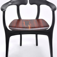 BespokeGlobal - Product Detail - Swallowtail Chair - Ebonized with Cocobolo