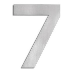 Blomus - Signo Stainless Steel House Number 7 - Includes mounting kit. Product is elevated from surface. Includes template, 2 pegs and set screws. Made of stainless steel, matte finish. 1-Year manufacturer's defect warranty. 5.93 in. H