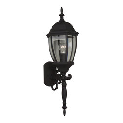 Exteriors - Exteriors Cast Aluminum Bent Glass Outdoor Wall Sconce - Medium X-50-082Z - Sophistication meets simplicity making a powerful statement in outdoor lighting with this one light wall sconce. Offered in various finishes, you are getting outstanding cast aluminum quality delivered by Craftmade, a reputable leader in outdoor lighting.