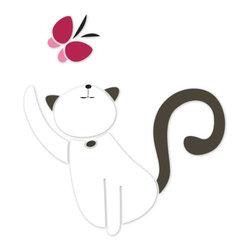 My Wonderful Walls - Cat Stencil 3 for Painting - - 2-piece cat stencil