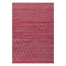 Rugsville - Rugsville Sari Silk Red Rug 13862 4x6 - Rugsville Sari-Silk rug collection embodies the harmonious connection between nature and interiors, taking inspiration from the allure and magnificence of the ocean. Hand-woven by indigenous weavers in India using the finest recycled Sari silk. Brilliant traces of pattern emerge through the iridescent silk surface to compose mesmerizing, painterly compositions.