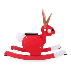 Playsam - Playsam Rocking Rabbit - You didn't quite see this coming, but yes, it's a Rocking ... Rabbit in red! With its universally appealing, cartoon like appearance, this rocker is a total kid magnet. Be remembered by parents and children alike when you give this extraordinary, interactive toy as a gift.