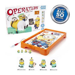 KOOLEKOO - Despicable Me 2 Operation Game - It's the classic skill game of Operation, now with multitudes of minions in Hasbro's Despicable Me 2 Operation Game! Stuart's having a bad day and it's up to you to fix him. Operate on Stuart to remove the unicorn fluff or fix his nutty noggin and his toxic tongue! Collect all of Stuart's Funatomy parts to win and earn extra points with Minion Battle Pods Medics, but don't set off the buzzer! Are your hands steady enough to win the Despicable Me 2 version of Operation?
