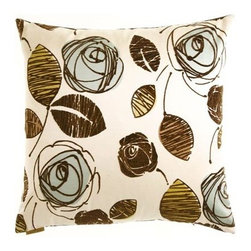 D.V. KAP Home - Troy Spa 24 x 24 Decorative Pillow - -24x24 zippered removable cover  -Comes with Feather/Down insert  -Spot or dry clean D.V. KAP Home - 2015-S