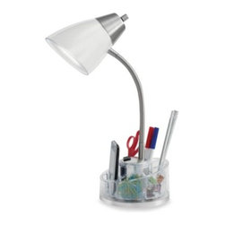 Evolution Lighting Llc/import Div. - Equip Your Space Organizer Desk Lamp - Organize your workspace while illuminating your desktop. These organizer lamps provide storage on a 360° swivel base for pens, pencils, scissors, paper clips and more while providing an attractive light source for desks and work spaces.