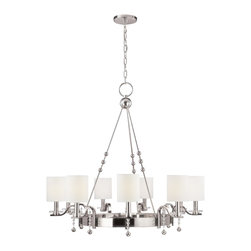Hudson Valley - 9 Light ChandelierBolton Collection - Bolton's stunning art pieces showcase our strength as a designer of exceptional decorative lighting fixtures.  The collection makes use of classic outlines, embellished with whimsical glamour, to create pieces that are both recognizable and absolutely uni