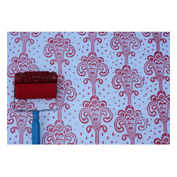 NotWallpaper - Patterned Paint Roller and Applicator, Grand Damask - Patterned Paint Roller and Applicator combo set