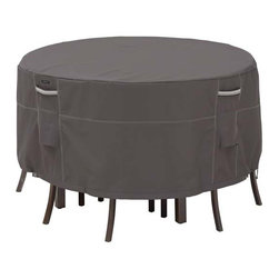 "Fifthroom - 70"" Terrace Elite Round Table and 6 Standard Chair Cover -"