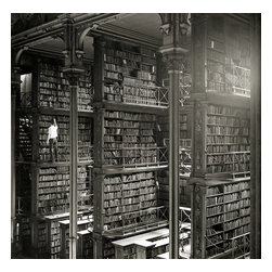 Cincinnati Library Print - The Old Main Library part of the Cincinnati Public Library built in 1874. Later a new library was built in Cincinnati and was constructed at 629 Vine Street.